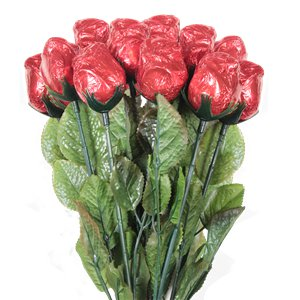 Milk Chocolate Red Roses - 12pk