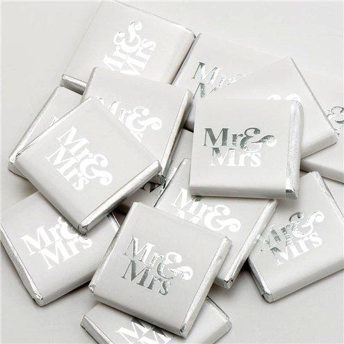 Christening Favours Birthday Silver Foiled Milk Chocolate Neapolitans Wedding