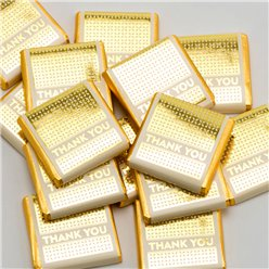 Gold 'Thank You' Chocolate Neapolitans - 50pk