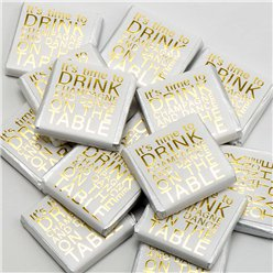 'It's time to drink champagne and dance on the table' Chocolate Neapolitans - 50pk