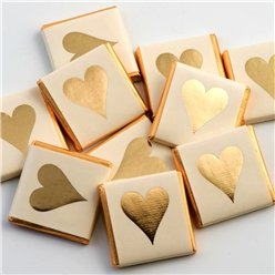 Gold Heart Chocolate Neapolitans - 50pk