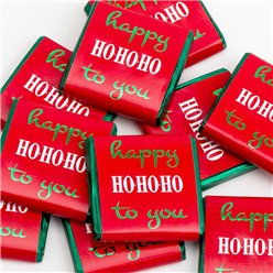 'happy Ho Ho Ho to you' Chocolate Neapolitans - 50pk
