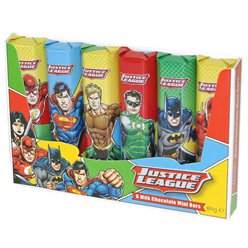 Justice League Milk Chocolate Mini Bars