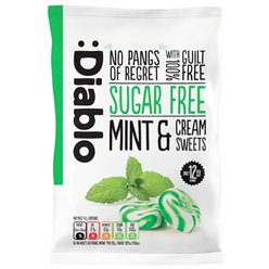 Diablo Sugar Free Mint & Cream Sweets