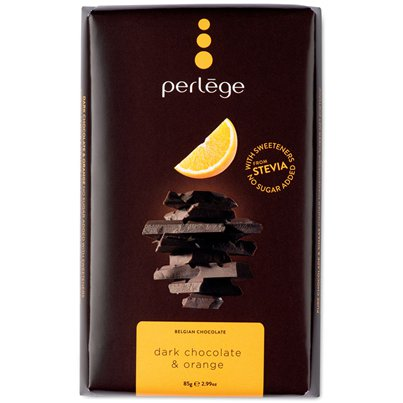 Stevia Belgian Dark Chocolate & Orange Bar