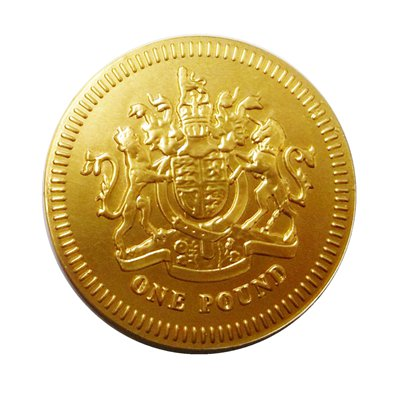 Chocolate One Pound Medallion Coin