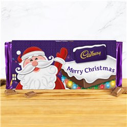 Merry Christmas Santa Cadbury Chocolate Bar - 360g