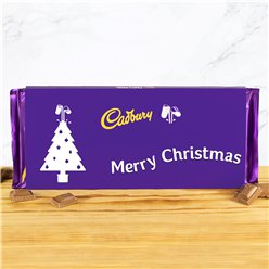 Merry Christmas Tree Cadbury Chocolate Bar - 360g