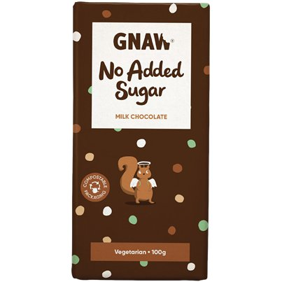 GNAW No Added Sugar Chocolate Bar