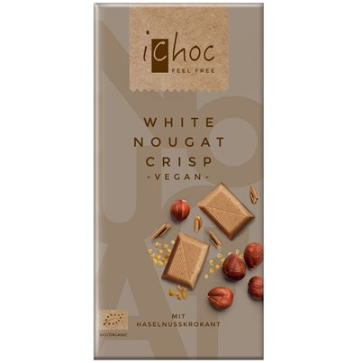 Vegan Rice White Chocolate Nougat Crisp Bar