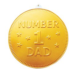 No 1 Dad Chocolate Medallion - 90g