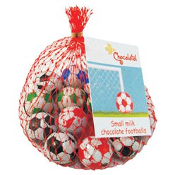 Net of Solid Chocolate Footballs - 11pk