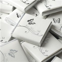 Silver Wedding Butterfly Neapolitan Chocolates - 250g