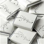 Silver Wedding Heart Neapolitan Chocolates - 250g