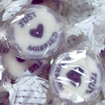 Silver 'Just Married' Rock Sweets - 300g