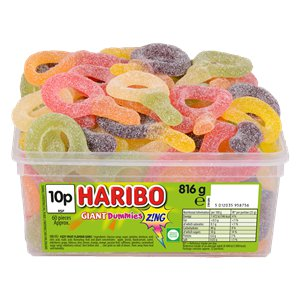 Haribo Giant Dummies Z!NG Tub