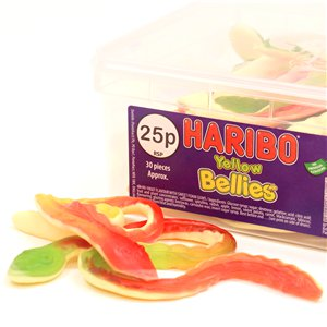 Haribo Yellow Bellies Snakes Tub