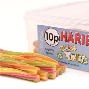 Haribo Rainbow Twists Tub
