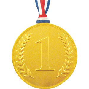 Gold Chocolate No. 1 Medal with ribbon