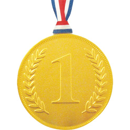 gold chocolate no 1 medal party delights
