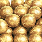 Milk Chocolate Balls - Gold - 5g