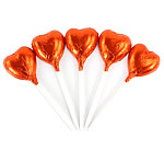 Bulk Pack of Orange Heart Chocolate Lollipops - 500g