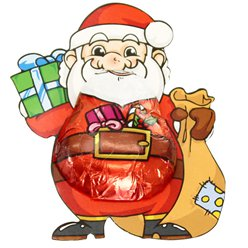 Santa with Sack Milk Chocolate -12.5g