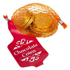 Milk Chocolate Gold Coins - 25g (8 coins)