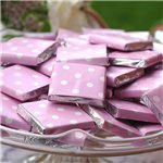 Baby Pink Polka Dot Chocolate Neapolitans - 100g