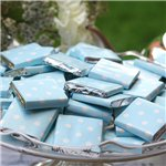 Baby Blue Polka Dot Chocolate Neapolitans - 100g
