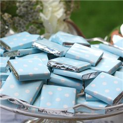 Baby Blue Polka Dot Chocolate Neapolitans - 20pk