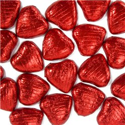 Red Foil Chocolate Hearts - 20pk