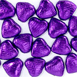 Purple Foil Chocolate Hearts