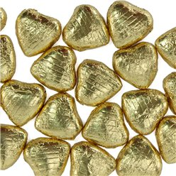 Gold Foil Chocolate Hearts - 20pk