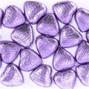 Lilac Chocolate Hearts - 20pk