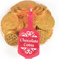 Large Net of Chocolate Gold Coins