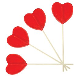Heart Shaped Lollipop - Strawberry Flavour