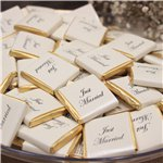 """Just Married"" Gold Chocolate Neapolitans - 250g"