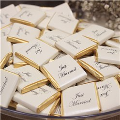 """Just Married"" Gold Chocolate Neapolitans - 240g"