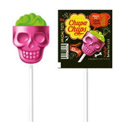 Chupa Chups 3D Skull Lolly - Strawberry & Lime