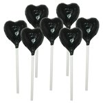 Black Heart Chocolate Lollipop