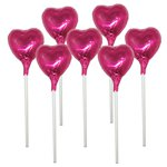 Cerise Heart Chocolate Lollipop