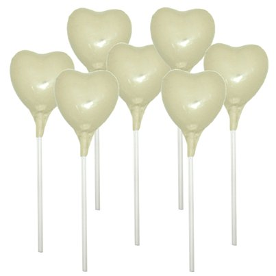 Ivory Heart Chocolate Lollipop