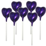 Midnight Purple Heart Chocolate Lollipop