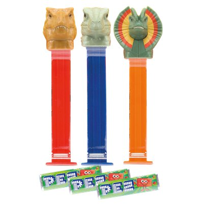 Jurassic PEZ Dispenser & Refills