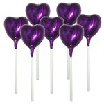 Purple Heart Chocolate Lollipop
