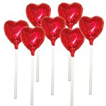 Red Heart Chocolate Lollipop