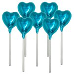 Turquoise Heart Chocolate Lollipop