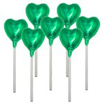 Green Heart Milk Chocolate Lollipop