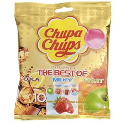 Chupa Chups Lollies - The Best of Cola, Milky & Fruit
